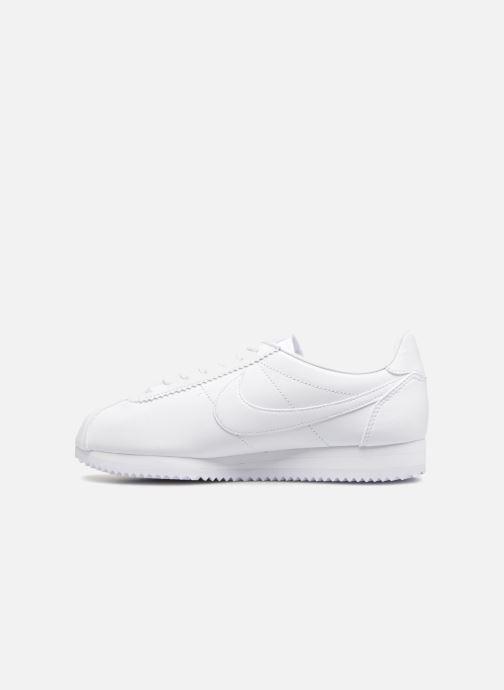 Deportivas Nike Wmns Classic Cortez Leather Blanco vista de frente