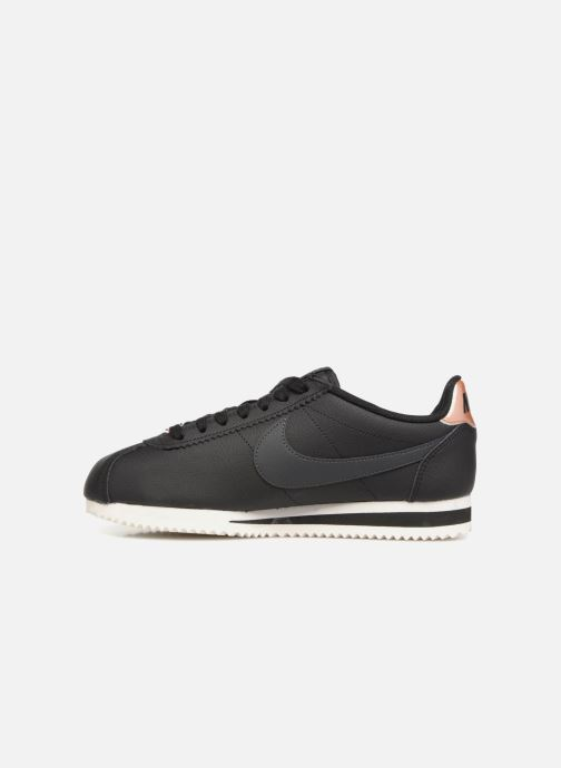 Sneakers Nike Wmns Classic Cortez Leather Nero immagine frontale