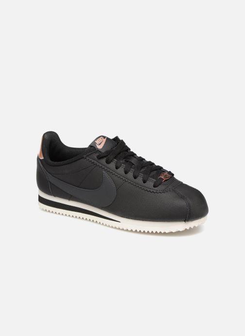 Sneaker Nike Wmns Classic Cortez Leather schwarz detaillierte ansicht/modell