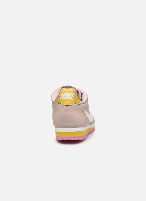 Baskets Nike Wmns Classic Cortez Leather Beige vue droite