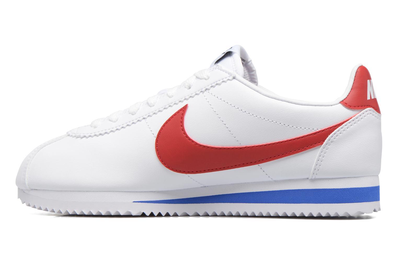 Sneakers Nike Wmns Classic Cortez Leather Vit bild från framsidan