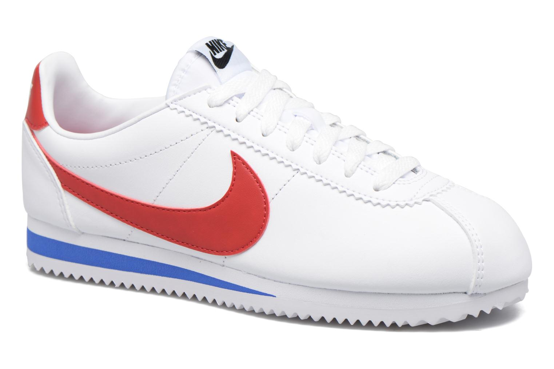 Sneakers Nike Wmns Classic Cortez Leather Vit detaljerad bild på paret