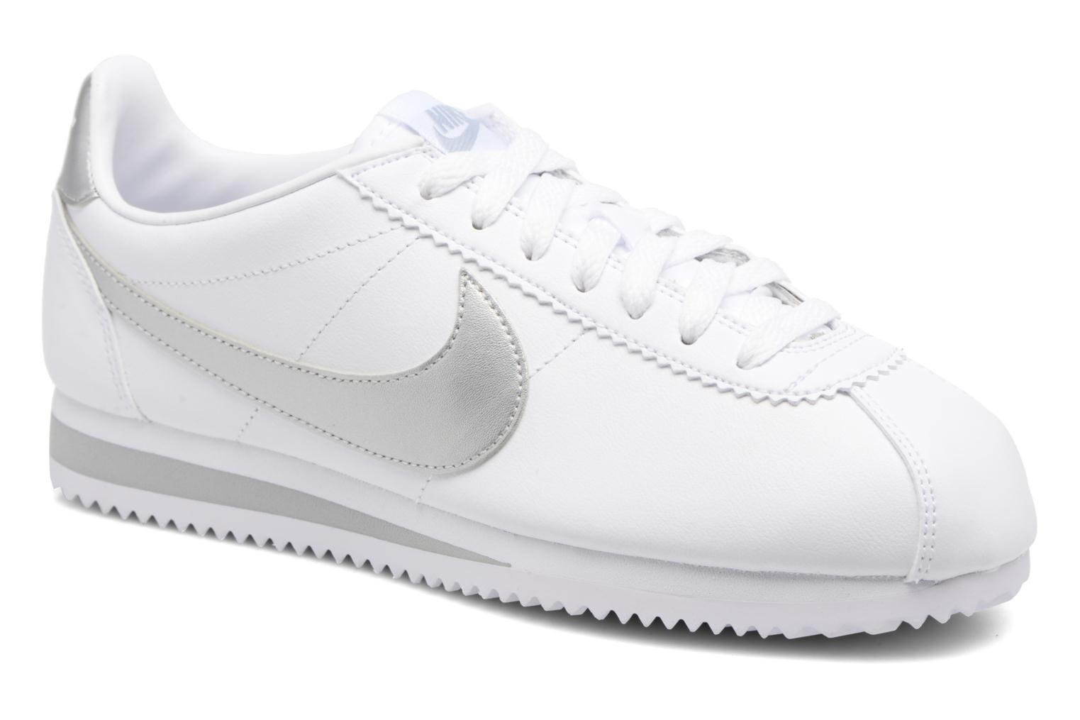 Trainers Nike Wmns Classic Cortez Leather Grey detailed view/ Pair view