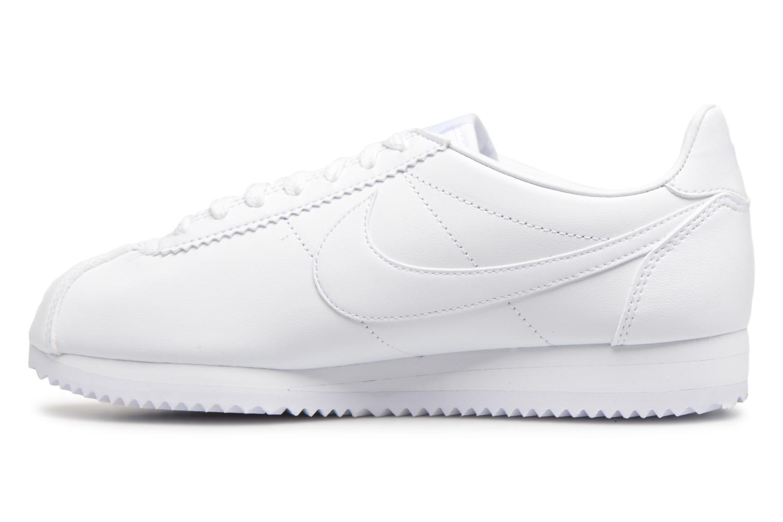Baskets Nike Wmns Classic Cortez Leather Blanc vue face