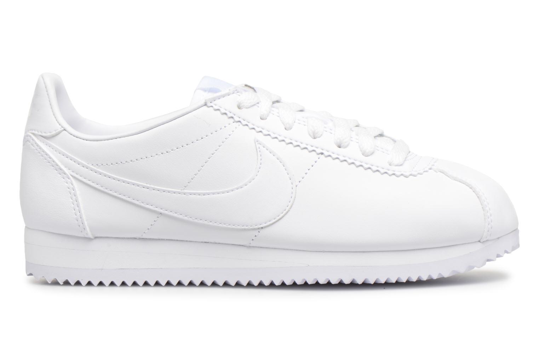 Baskets Nike Wmns Classic Cortez Leather Blanc vue derrière