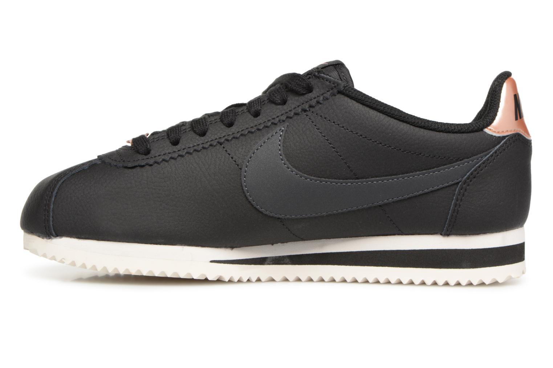 Sneaker Nike Wmns Classic Cortez Leather schwarz ansicht von vorne