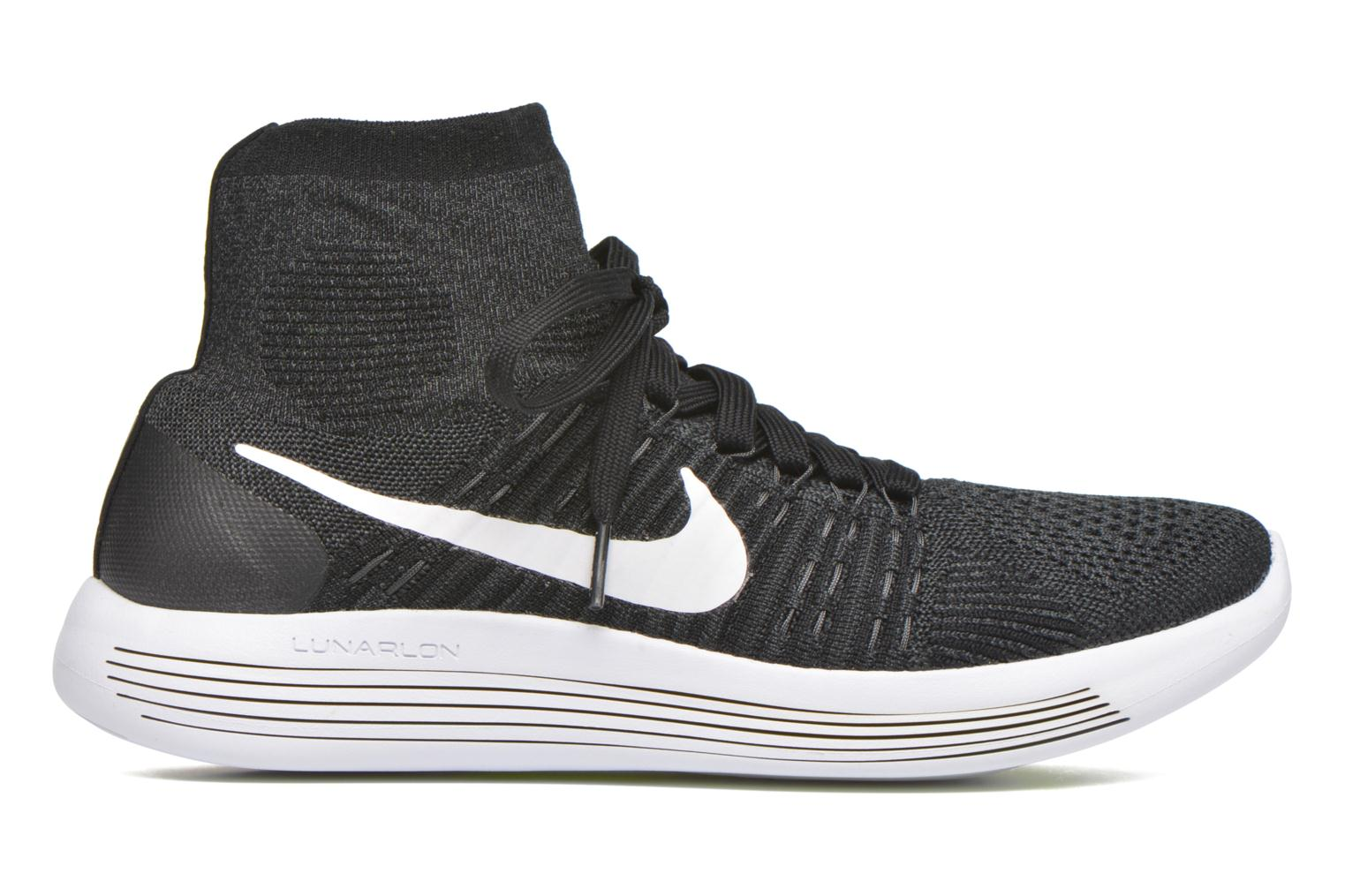 Sport shoes Nike Nike Lunarepic Flyknit Black back view