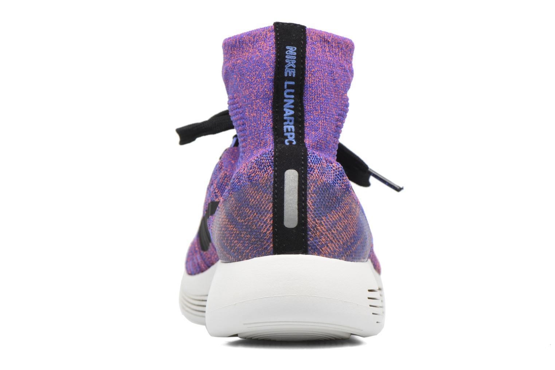 Sportschuhe Nike Nike Lunarepic Flyknit blau ansicht von rechts