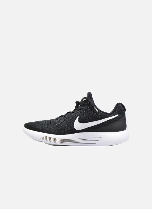 Chaussures de sport Nike Nike Lunarepic Low Flyknit 2 Noir vue face