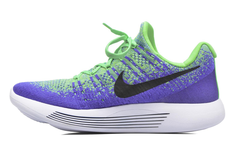 Chaussures de sport Nike Nike Lunarepic Low Flyknit 2 Vert vue face