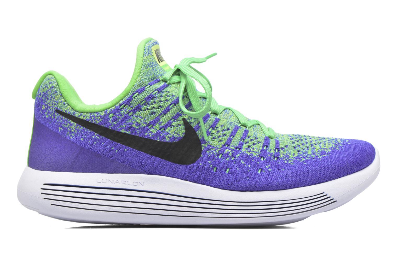 Chaussures de sport Nike Nike Lunarepic Low Flyknit 2 Vert vue derrière