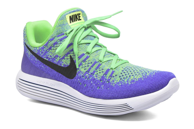 Chaussures de sport Nike Nike Lunarepic Low Flyknit 2 Vert vue détail/paire