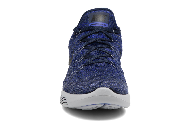 Chaussures de sport Nike Nike Lunarepic Low Flyknit 2 Bleu vue portées chaussures