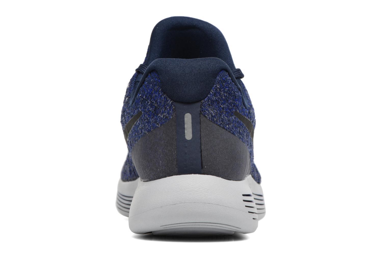 Chaussures de sport Nike Nike Lunarepic Low Flyknit 2 Bleu vue droite