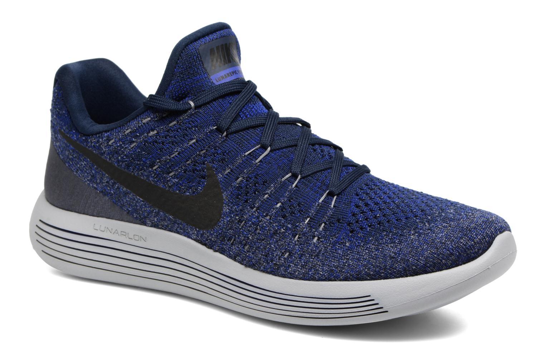Chaussures de sport Nike Nike Lunarepic Low Flyknit 2 Bleu vue détail/paire