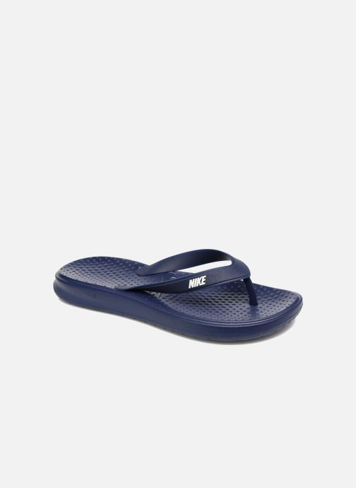 Flip flops Nike Solay Thong Blue detailed view/ Pair view