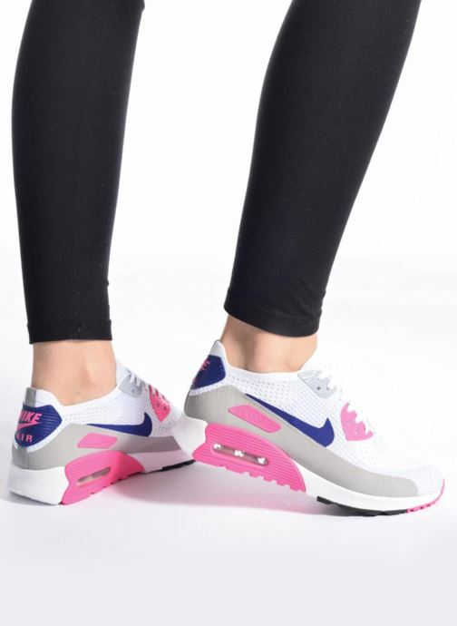 nike W AIR MAX 90 ULTRA 2.0 FLYKNIT WHITECONCORD LASER PINK