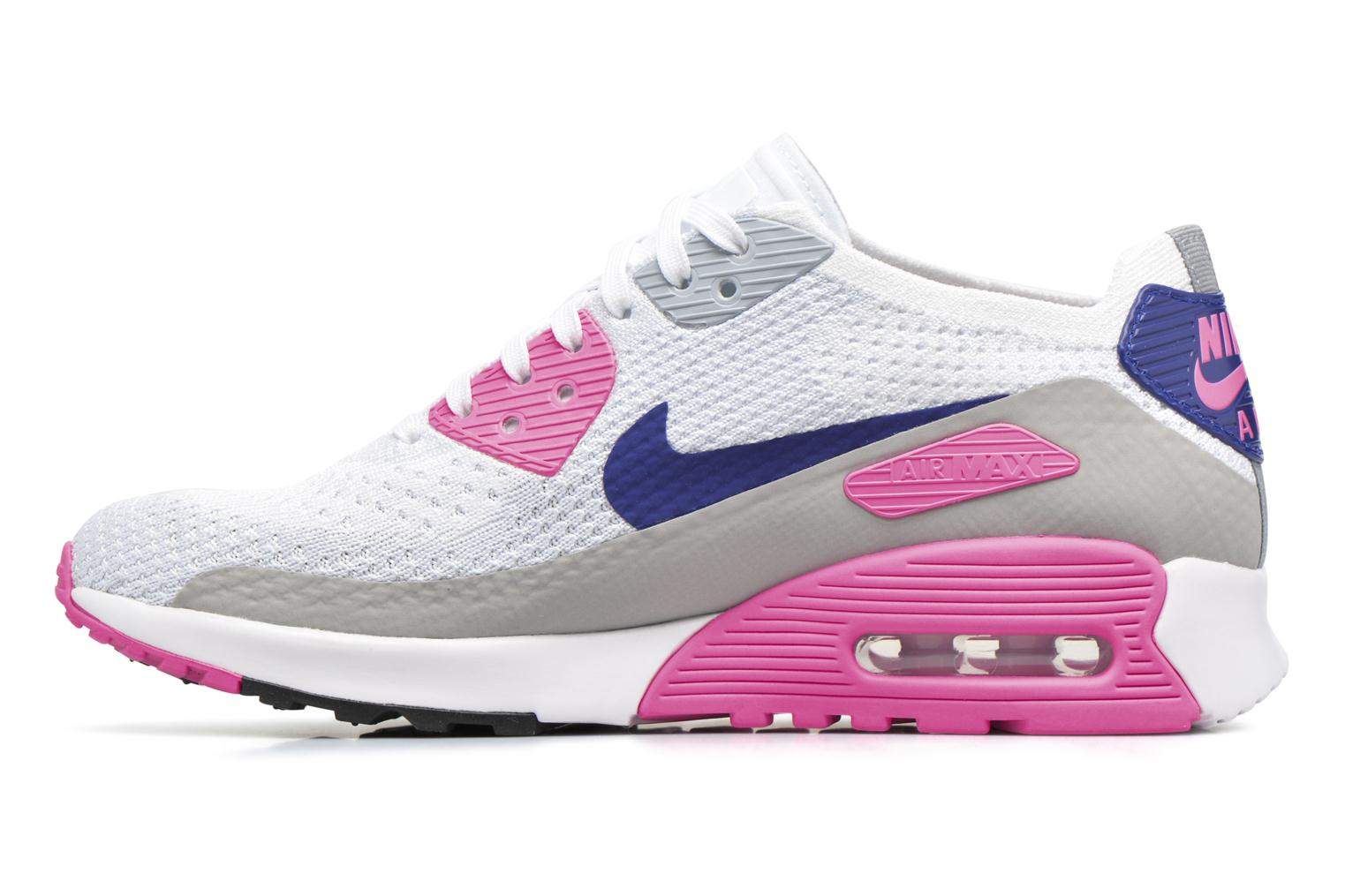 Sneakers Nike W Air Max 90 Ultra 2.0 Flyknit Hvid se forfra