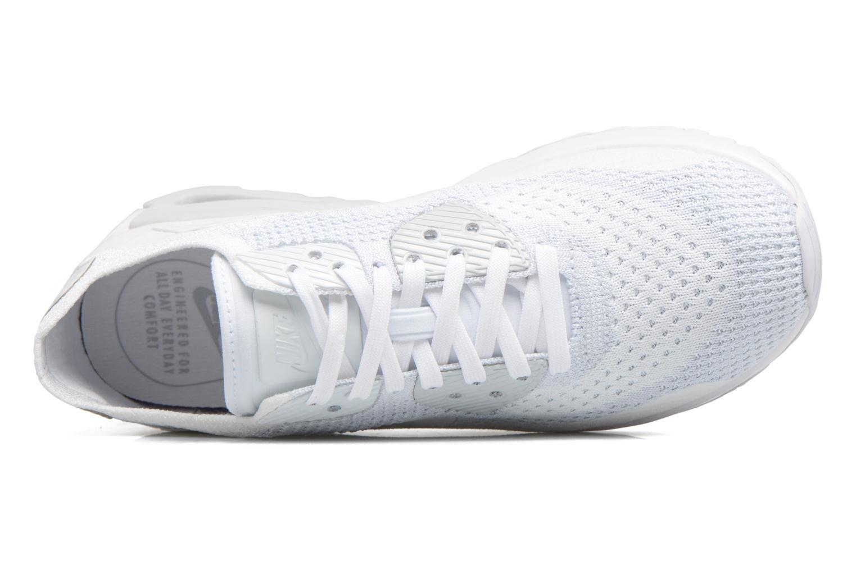 Sneaker Nike W Air Max 90 Ultra 2.0 Flyknit weiß ansicht von links