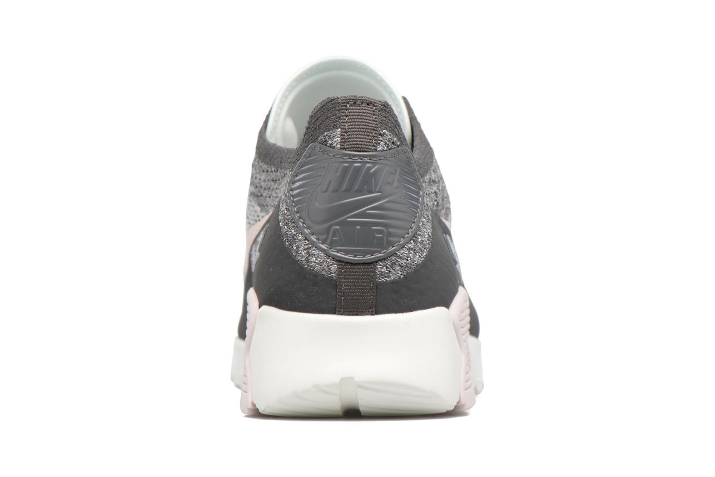 Sneaker Nike W Air Max 90 Ultra 2.0 Flyknit grau ansicht von rechts