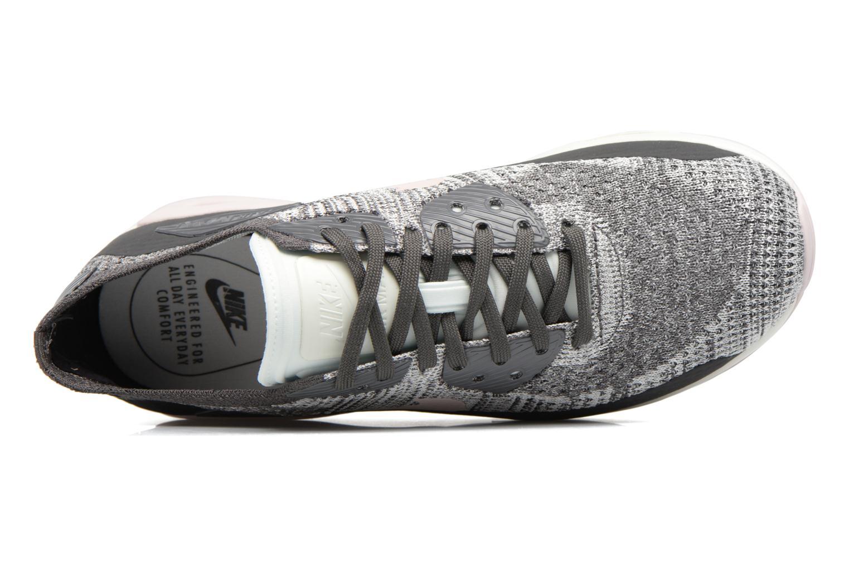 Sneaker Nike W Air Max 90 Ultra 2.0 Flyknit grau ansicht von links