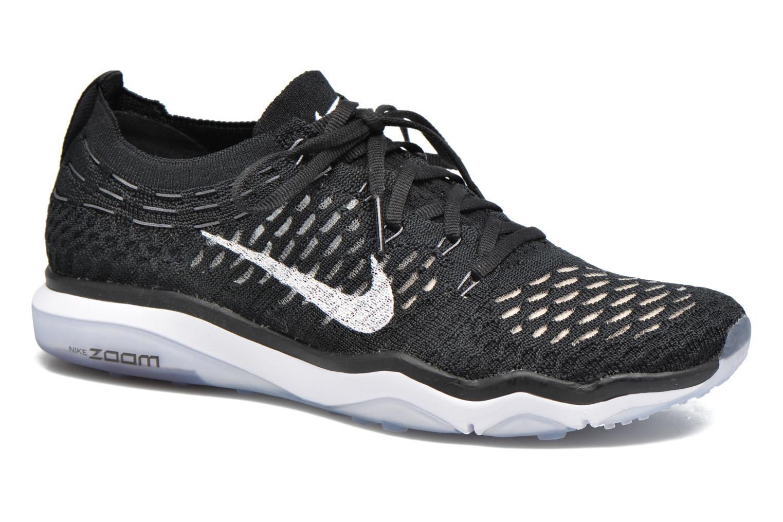 Sportssko Nike W Air Zoom Fearless Flyknit Sort detaljeret billede af skoene