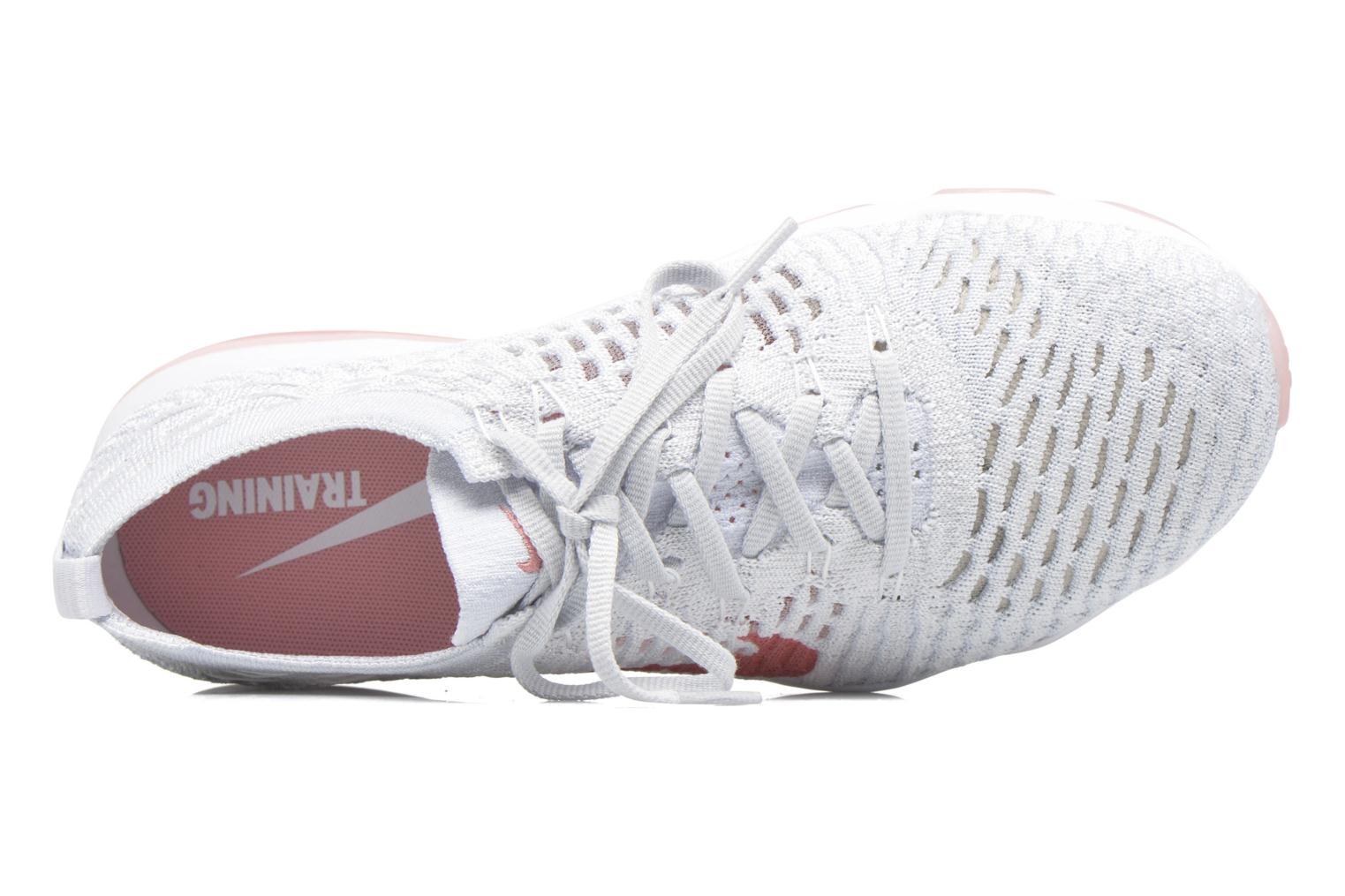 Sport shoes Nike W Air Zoom Fearless Flyknit White view from the left