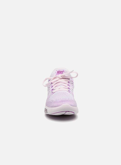 Zapatillas de deporte Nike W Lunarepic Low Flyknit 2 Iwd Violeta      vista del modelo