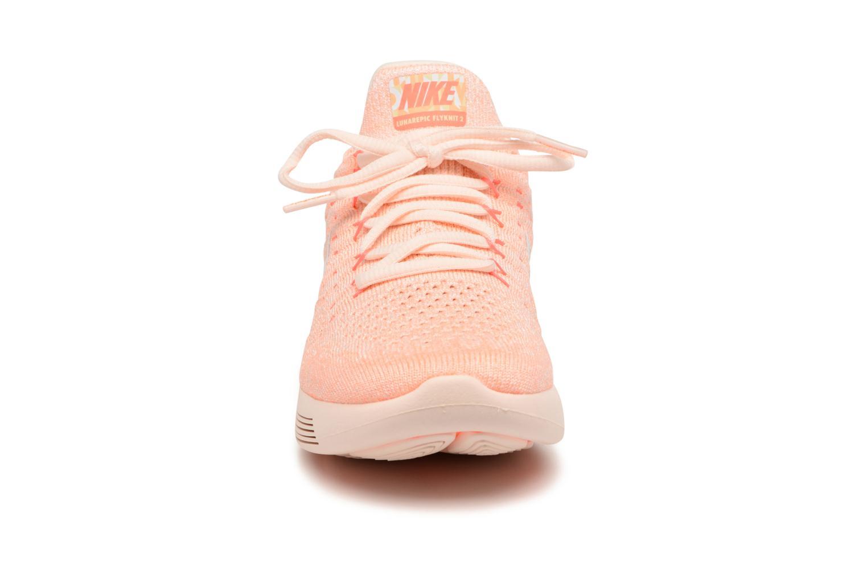 Sportschuhe Nike W Lunarepic Low Flyknit 2 Iwd orange schuhe getragen