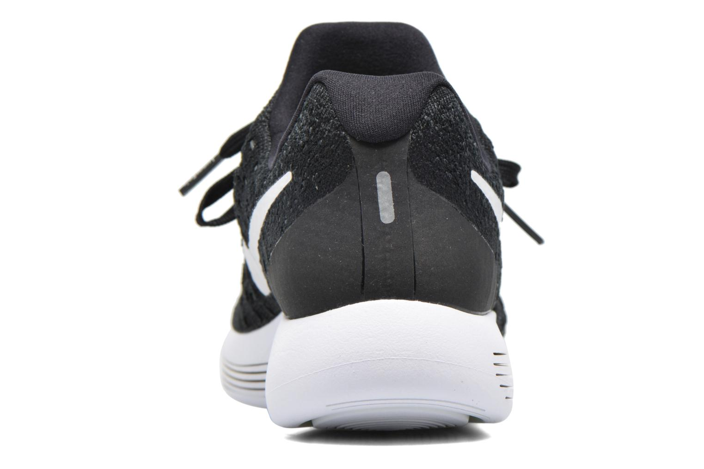 Chaussures de sport Nike W Nike Lunarepic Low Flyknit 2 Noir vue droite