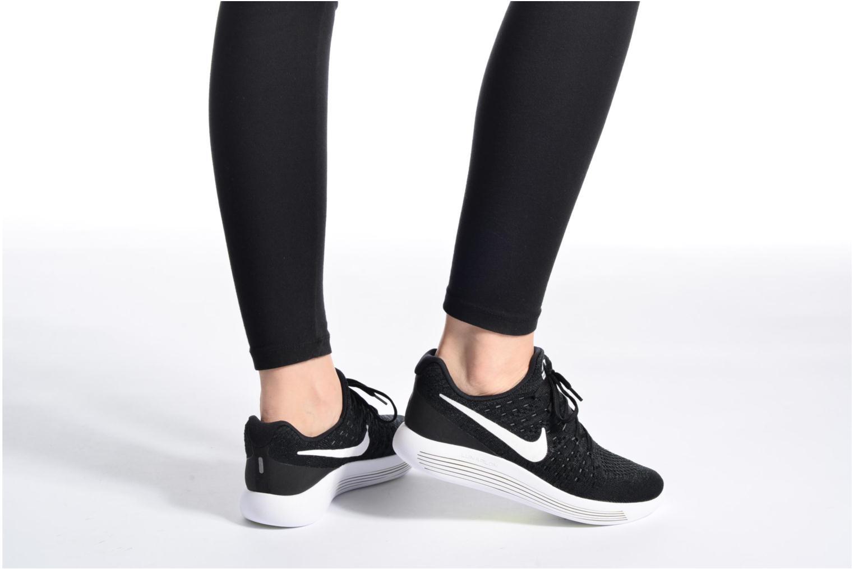 Chaussures de sport Nike W Nike Lunarepic Low Flyknit 2 Rose vue bas / vue portée sac