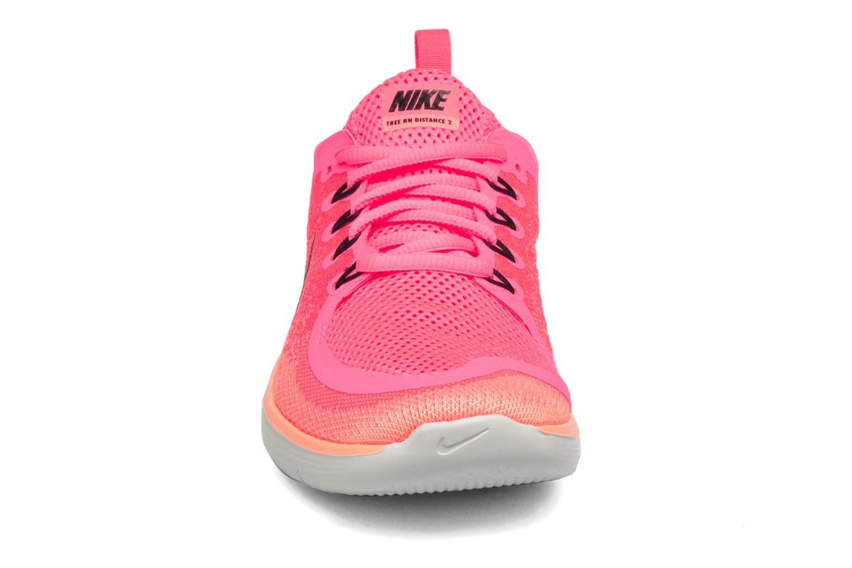 Chaussures de sport Nike Wmns Nike Free Rn Distance 2 Rose vue portées chaussures