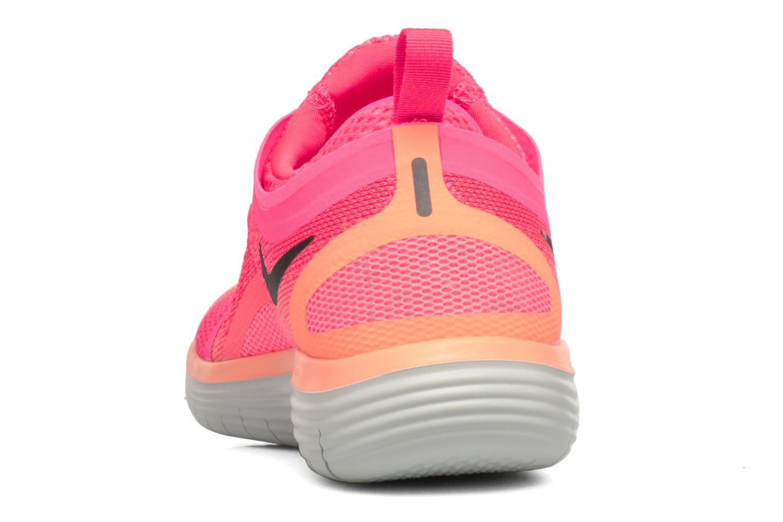 Chaussures de sport Nike Wmns Nike Free Rn Distance 2 Rose vue droite