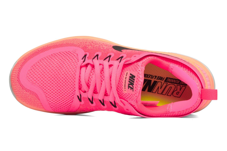 Chaussures de sport Nike Wmns Nike Free Rn Distance 2 Rose vue gauche