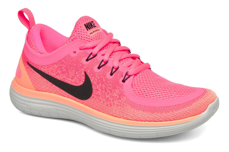 Chaussures de sport Nike Wmns Nike Free Rn Distance 2 Rose vue détail/paire