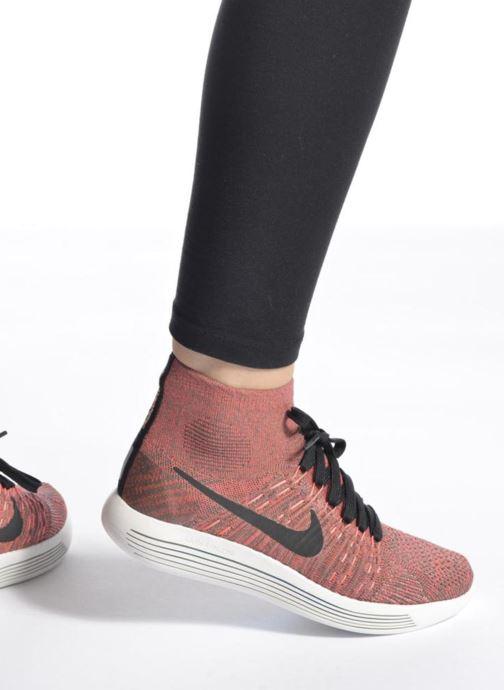 Sportschuhe Nike Wmns Nike Lunarepic Flyknit schwarz ansicht von unten / tasche getragen