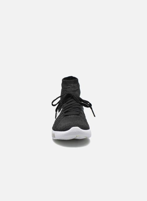 Sportschuhe Nike Wmns Nike Lunarepic Flyknit schwarz schuhe getragen