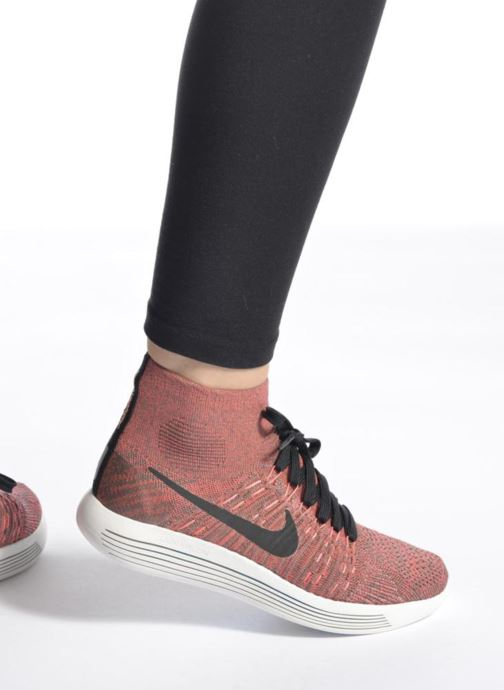 Sport shoes Nike Wmns Nike Lunarepic Flyknit Brown view from underneath / model view