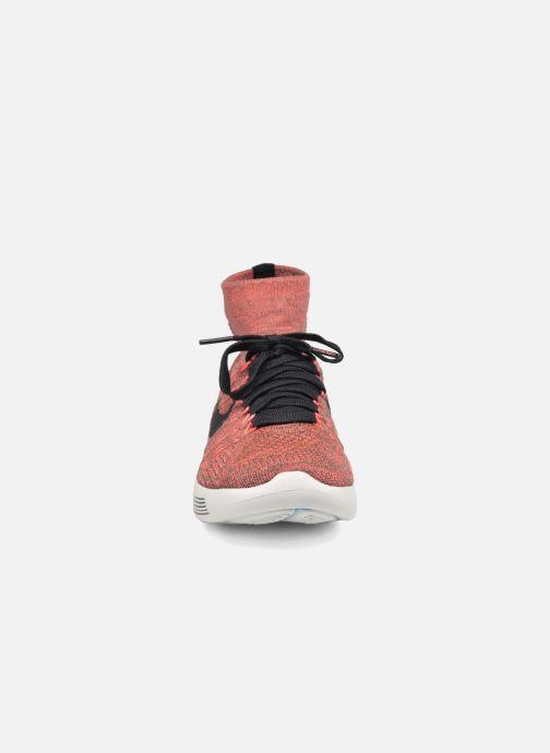 Chaussures de sport Nike Wmns Nike Lunarepic Flyknit Marron vue portées chaussures