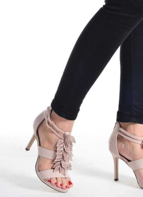 Sandales et nu-pieds Bullboxer Laline Beige vue bas / vue portée sac