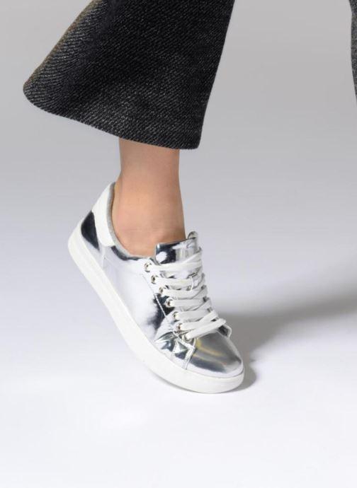 Baskets I Love Shoes MC ETASSI Argent vue bas / vue portée sac