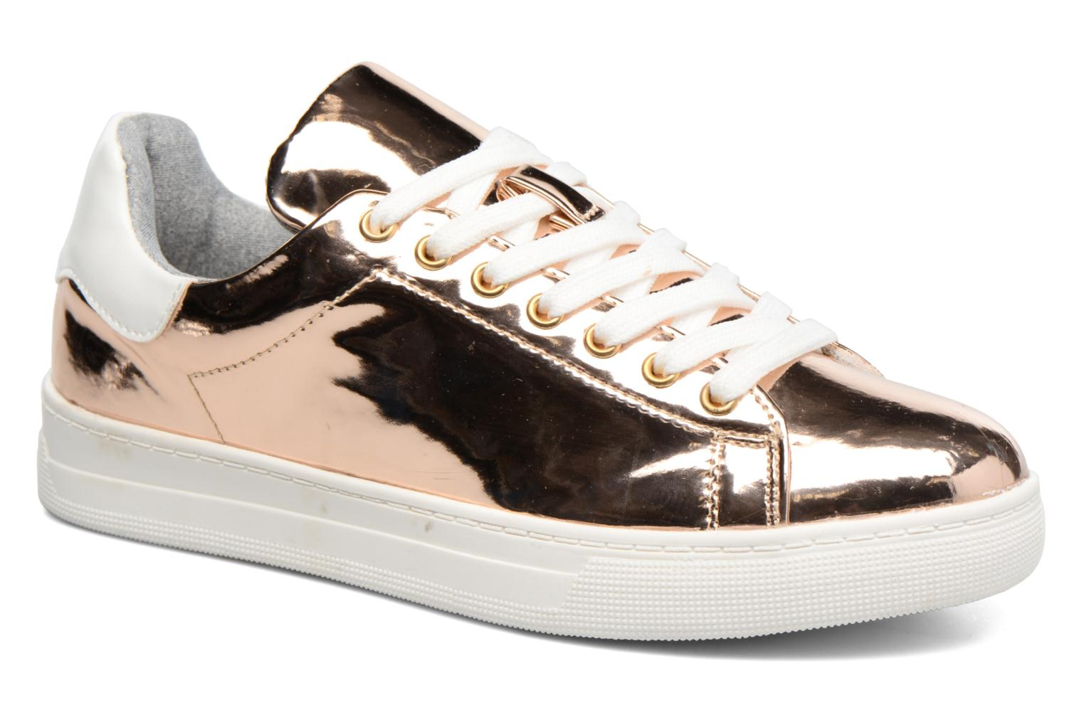 Trainers I Love Shoes MC ETASSI Bronze and Gold detailed view/ Pair view