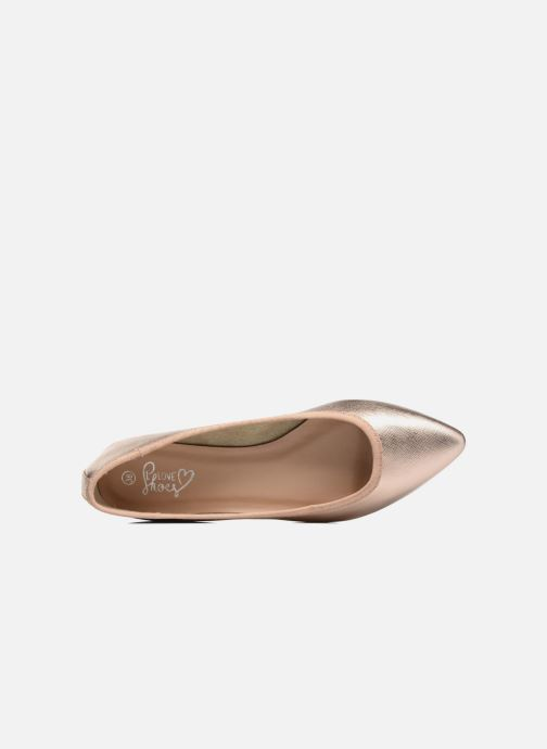 Ballerines I Love Shoes MC ANAS Or et bronze vue gauche