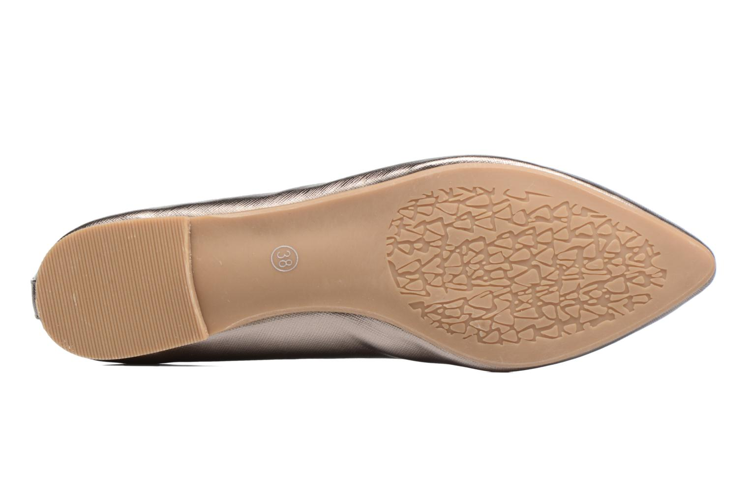 Ballet pumps I Love Shoes MC ANAS Silver view from above