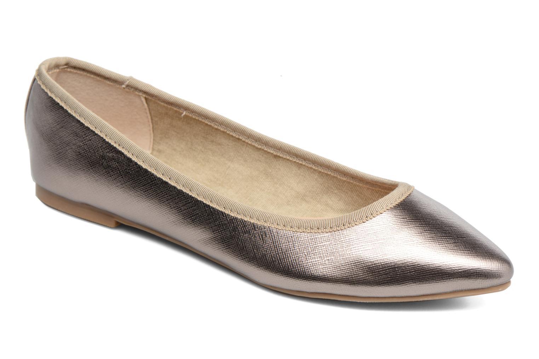 Ballerines I Love Shoes MC ANAS Argent vue détail/paire