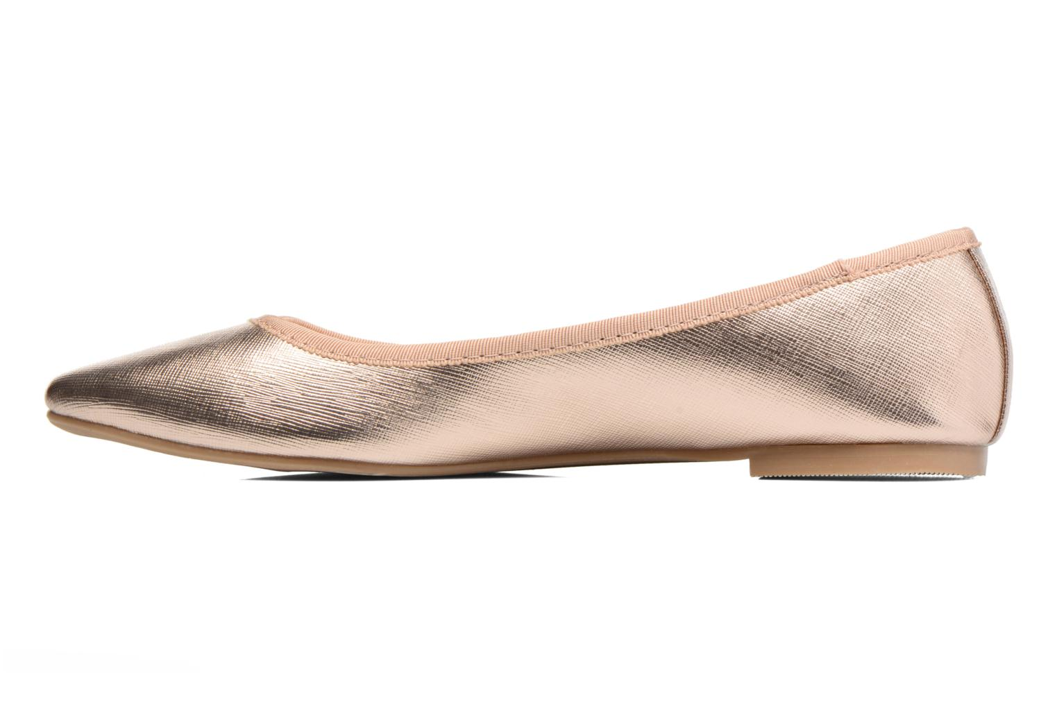 Ballet pumps I Love Shoes MC ANAS Bronze and Gold front view