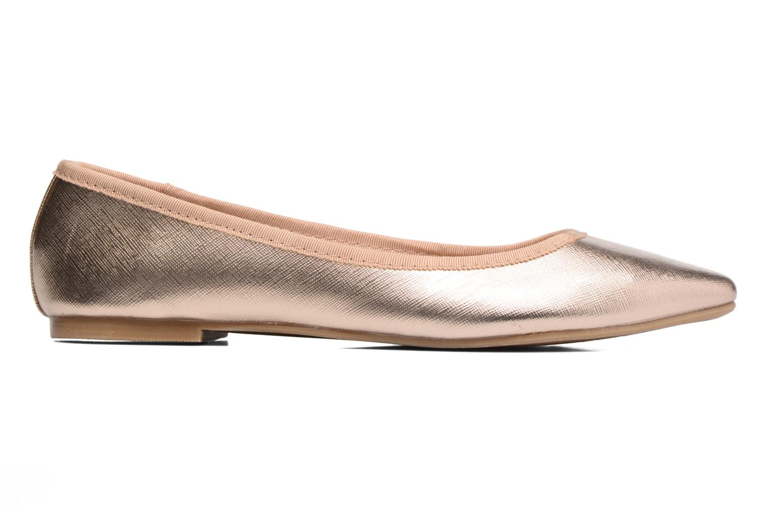Ballet pumps I Love Shoes MC ANAS Bronze and Gold back view
