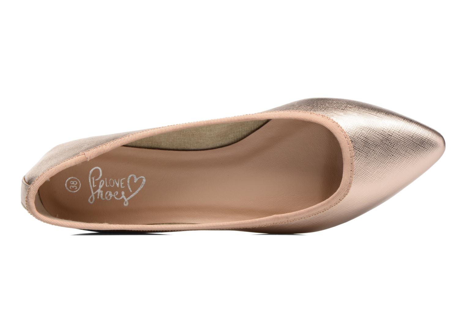 Ballet pumps I Love Shoes MC ANAS Bronze and Gold view from the left