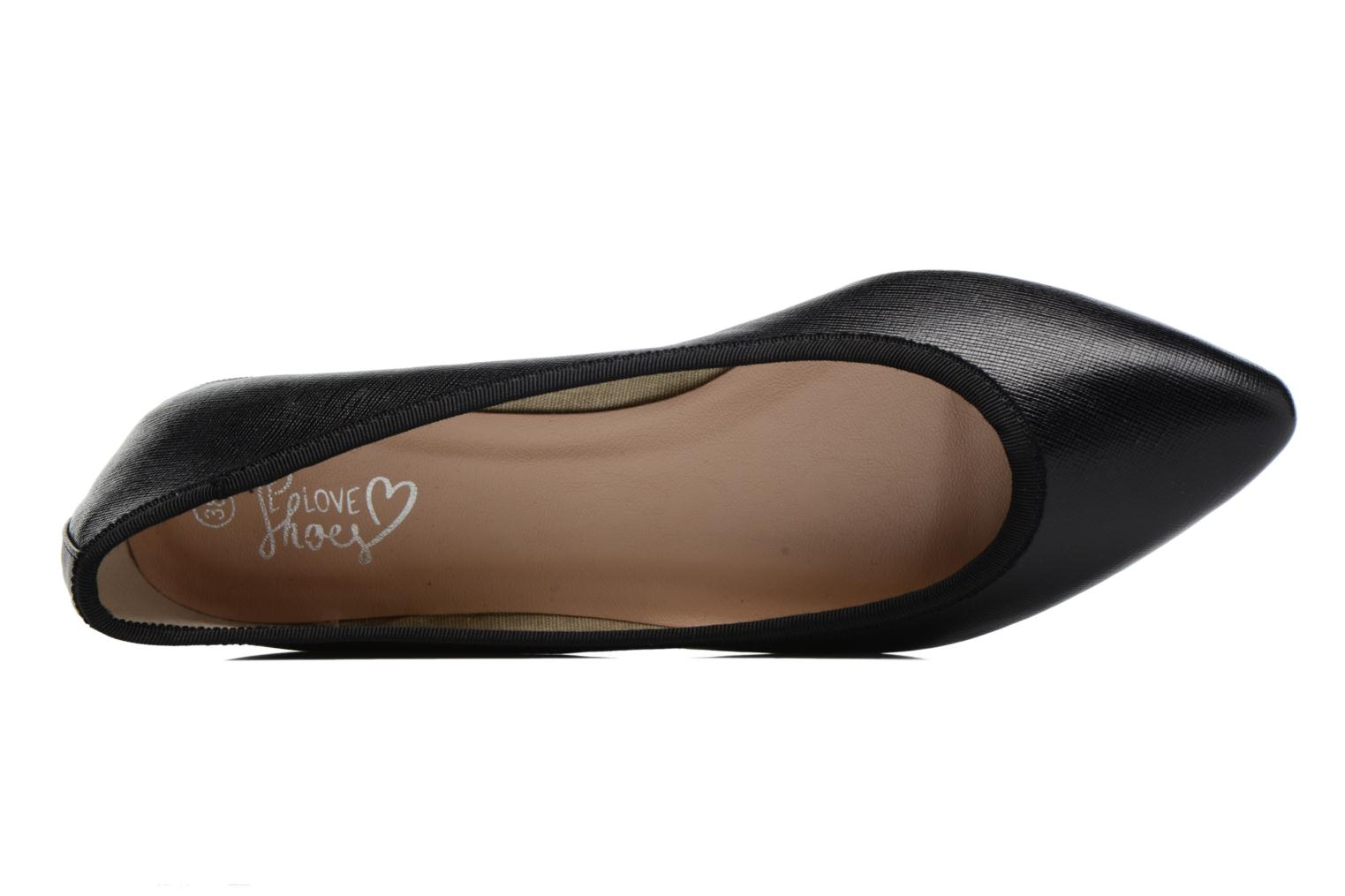 Ballerinas I Love Shoes MC ANAS schwarz ansicht von links