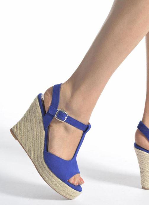 Espadrilles I Love Shoes MCADA Bleu vue bas / vue portée sac